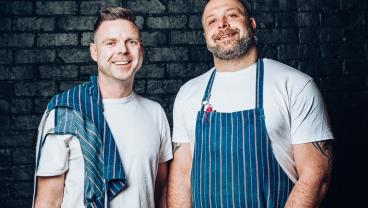 Ben Bayly with chef